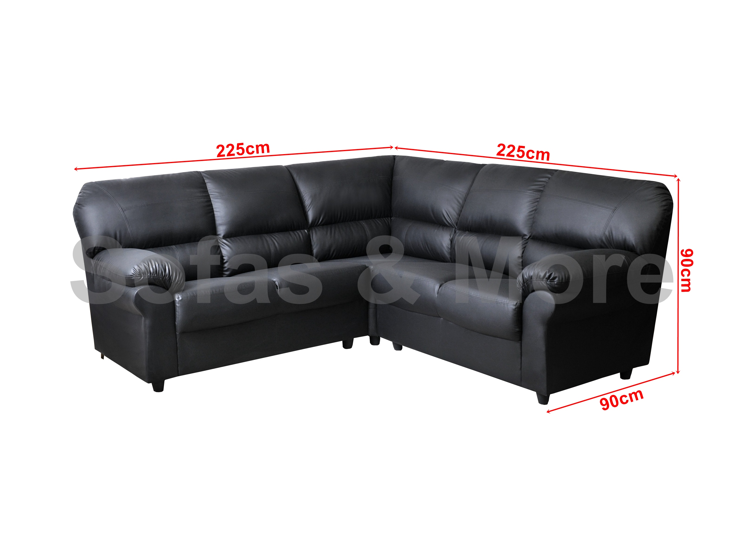 Candy Corner Sofa In Brown Black Fabric Or Faux Leather Ebay