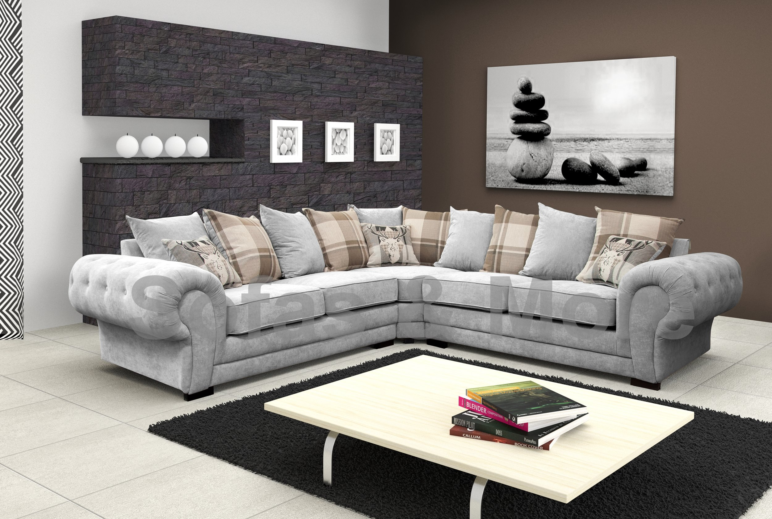 Chesterfield Sectional Corner Sofa Suite Verona Velour